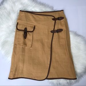 MaxMara Linen Wrap Skirt